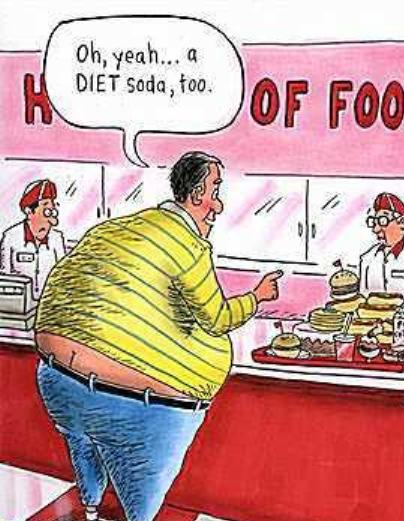 As far as I'm concerned the biggest deterrent to losing weight is ...