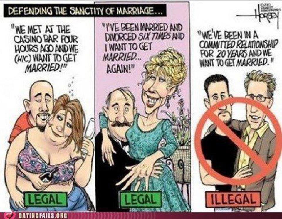 the reasons behind the social unacceptability of same sex marriage Same-sex marriage (also called gay if it's not necessarily the same reason one person's squeamish reaction to two people of the same sex, different race or different social classes getting close should not and cannot be used as a legal argument against them marrying.