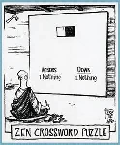 "Why ""Zen"" people never get stressed out doing crossword puzzles"