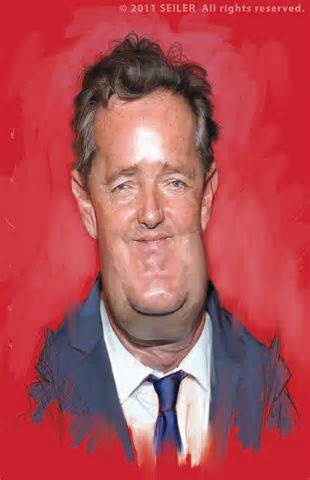 Only the cartoon version of Piers Morgan, (above) has freedom of speech rights.