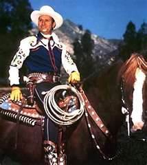 Gene Autry in his sexually suggestive saddle......which apparently he is back in.