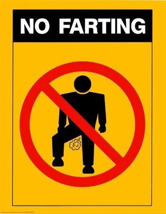 farting no