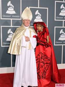 Niki Minaj and friend, Pope Puritain, showing the other celebs how to protect themselves from boobs or butts escaping.