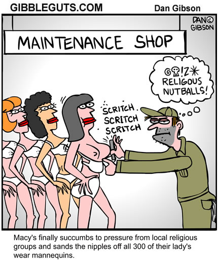 No alterations were needed on the men mannequins.