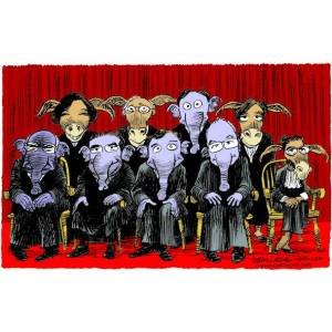 Actual photo of the Supreme Court justices.