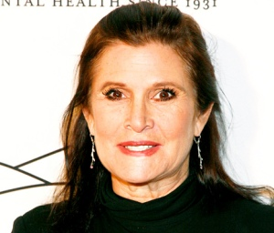 Carrie Fisher today.