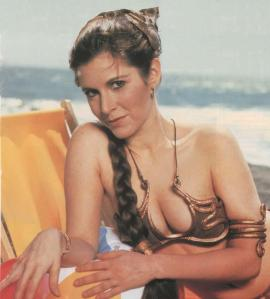 Carrie Fisher in Star Wars as Princess Leia then.
