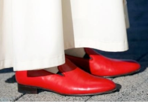 This is either a photo of the Pope's red shoes or one of Ricardo Montlaban from Fantasy Island