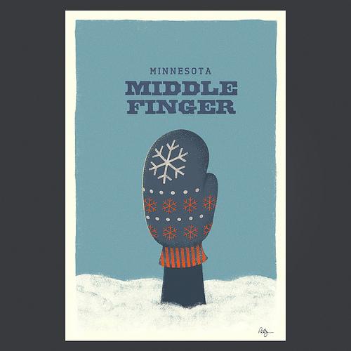 finger in glove