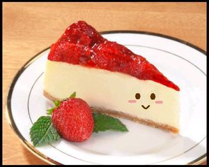 Photo of an actual slice of cheesecake...BUT.....not what we're talkin' about today