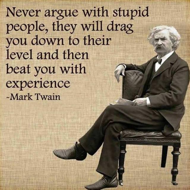 mark twain stupid people