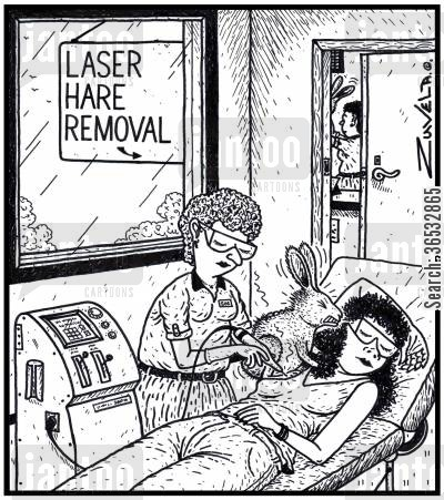 Laser Hare Removal a woman getting laser treatment for the removal of a hare from her armpit