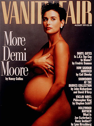 A pregnant Demi Moore which most likely caused pregnant women to go berserk
