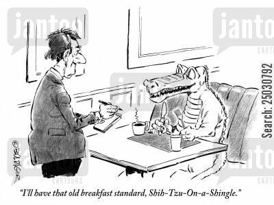 'I'll have that old breakfast standard, Shih-Tzu-On-a-Shingle.'