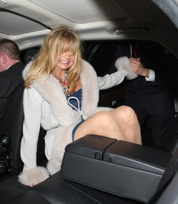 *hic....Goldie Hawn after a few and maybe a bit hawney...um....horny....whatever