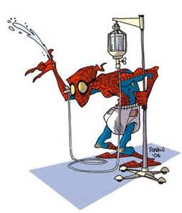 Recent photo of Spiderman at an assisted living facility