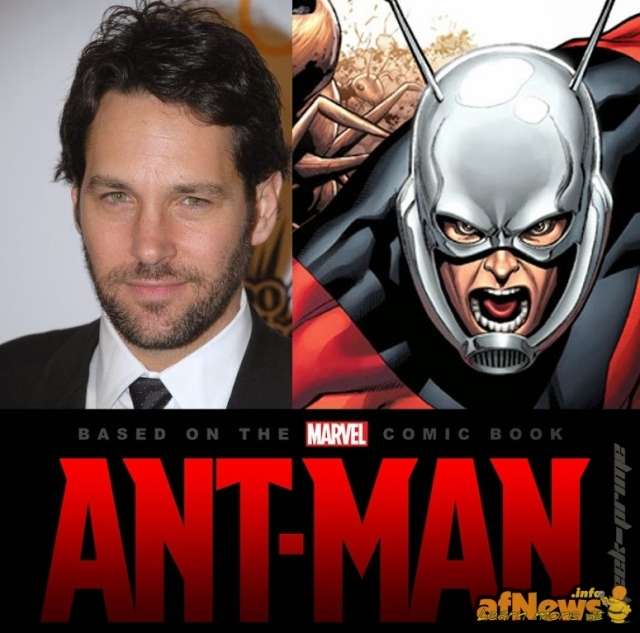 Paul Rudd as Ant-Man. (not sure which one is Rudd and which one is the ant)