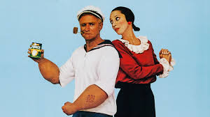 Robin Williams as Popeye and Shelley Duval as Olive Oyl
