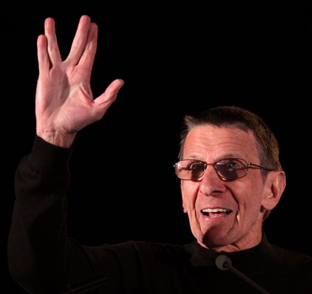 Mr. Spock, with a touch of arthritus  in his fingers, now