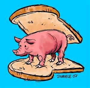 The very first ham sandwich.