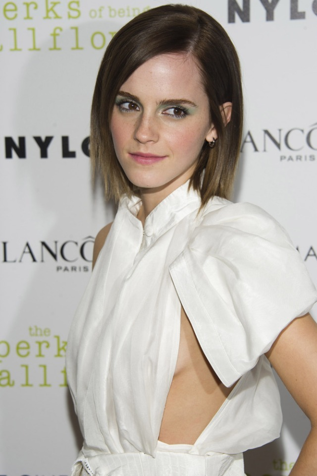 "Example of a ""side boob"" courtesy of Emma Watson"