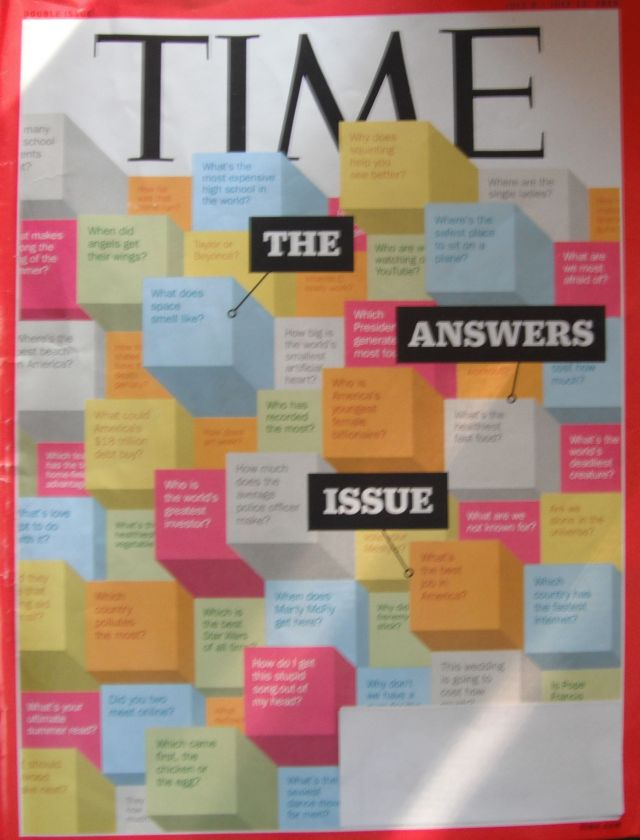 It'll take you a lot of TIME to read this issue of TIME as well as this blog