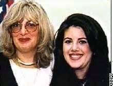 The alluring Linda Tripp (keeper of stained dresses) and friend