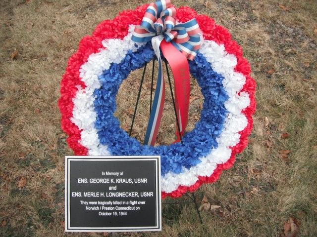 Sementara Memorial saat ini di Preston Perpustakaan di Preston, CT.