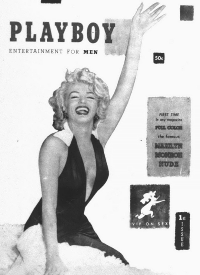 Ah yes....the very 1st Playboy Magazine cover featuring Marilyn Monroe....