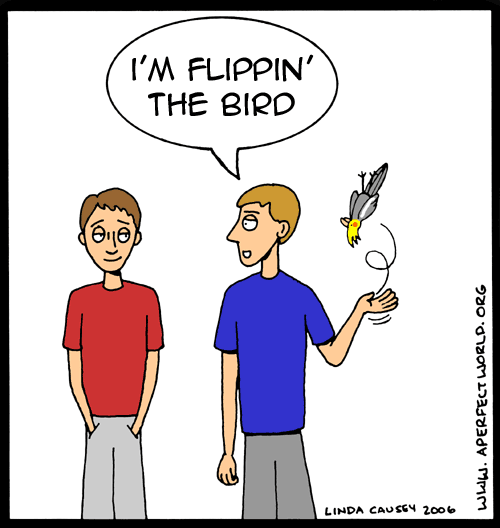 OR....the bird getting flipped off