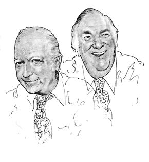 (L) Bob Elliott, (R) Ray Goulding