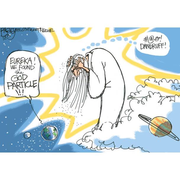 "Before God discovered ""Head & Shoulders"" shampoo"