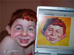 "Yeah, like this ""real person"" who resembles Alfred E. Neuman"