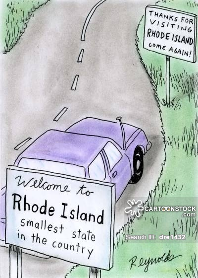 Welcome to Rhode Island - smallest state in the country.