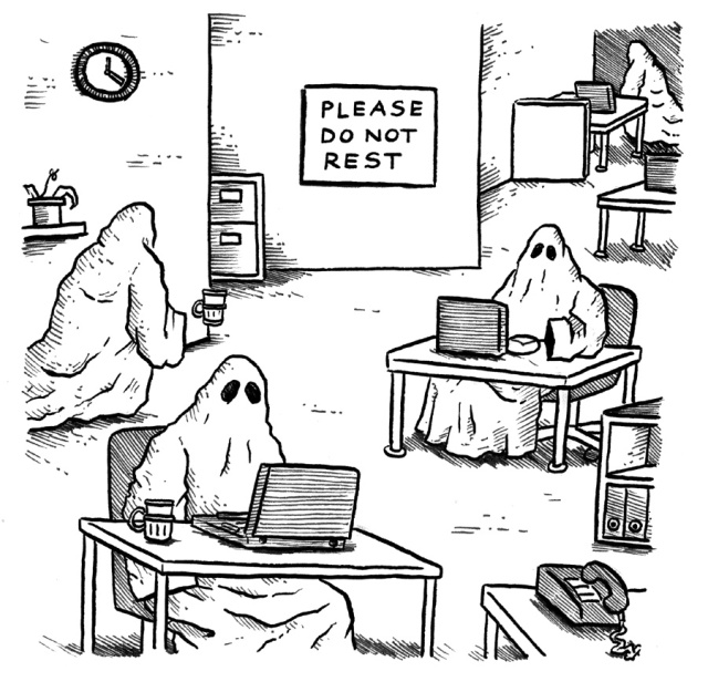 Why ghosts contuinually but people