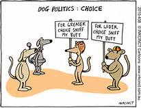 If dogs were running for political office.......not far off the track from today's politicians