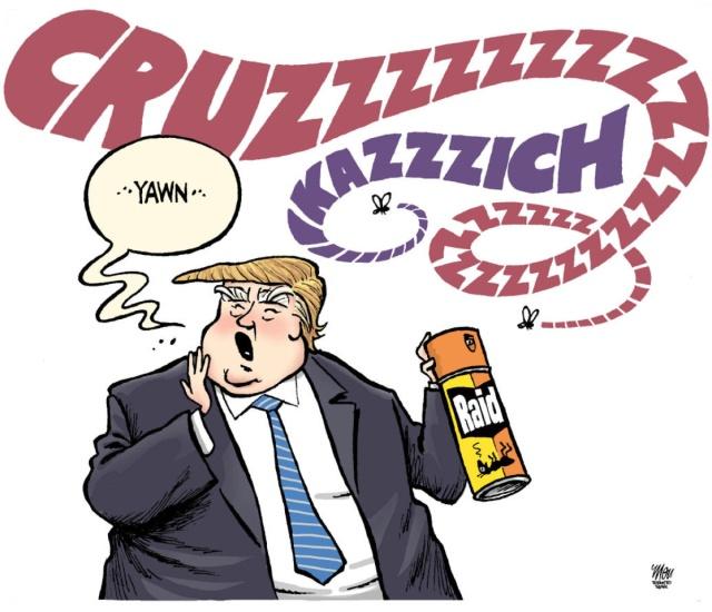 Same stiff Trump used on Ted Cruz.....