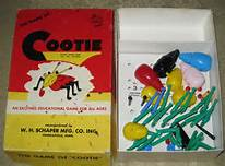 Cootie box cover and cootie body parts