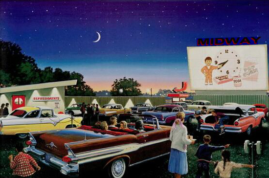 The drive-in movie part