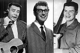 J.P. Richardson, (The Big Bopper) Buddy Holly and Ritchie Valens