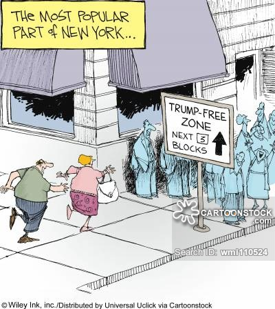 The Most Popular Part of New York: 'Trump-Free Zone.'